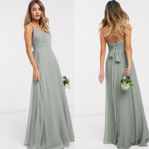 ASOS Tall Bridesmaid Ruched Cami Dress NWT